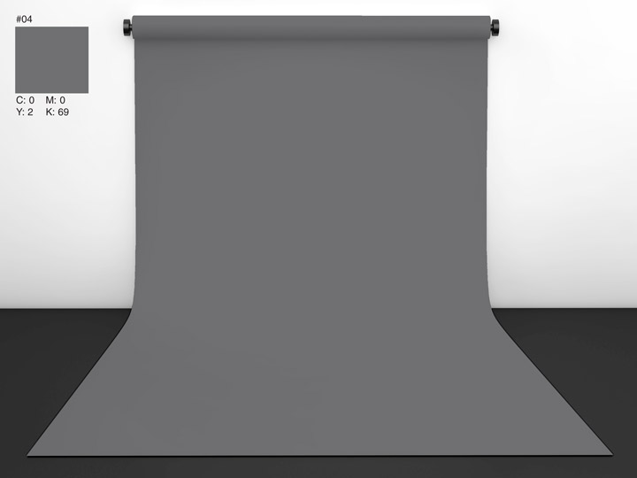 Papírové pozadí Seal Gray (18% šedá) 2,72 x 11m , CI background