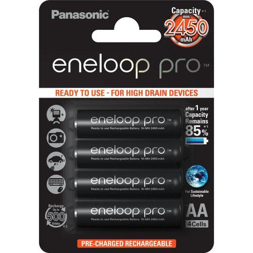 Panasonic Eneloop Pro AA, akumulátory blistr 4 ks, 500 cyklů, R06