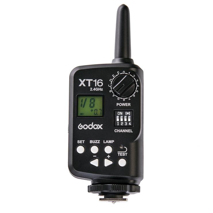 Radiová řídící jednotka pro blesky, Godox XT-16 (vysílač)
